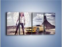 Obraz na płótnie – Chevrolet Camaro – czteroczęściowy TM079W1