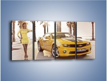 Obraz na płótnie – Chevrolet Camaro Coupe Europe – czteroczęściowy TM083W1
