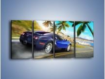 Obraz na płótnie – Bugatti Veyron – czteroczęściowy TM123W1