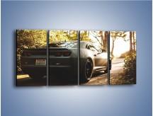Obraz na płótnie – Chevrolet Camaro w matowym kolorze – czteroczęściowy TM132W1