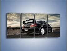 Obraz na płótnie – Czarne Subaru Impreza WRX Sti – czteroczęściowy TM133W1