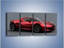 Obraz na płótnie – Alfa Romeo 4C Coupe – czteroczęściowy TM140W1