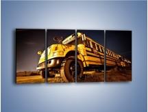 Obraz na płótnie – Amerykański School Bus – czteroczęściowy TM146W1