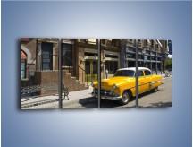Obraz na płótnie – Amerykańska taksówka z lat 60 – czteroczęściowy TM164W1