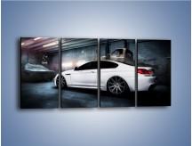 Obraz na płótnie – BMW M6 F13 w garażu – czteroczęściowy TM165W1