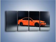 Obraz na płótnie – BMW M3 E92 Coupe Orange – czteroczęściowy TM168W1
