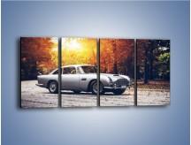 Obraz na płótnie – Aston Martin DB5 – czteroczęściowy TM208W1