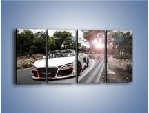 Obraz na płótnie – Audi R8 V10 Spyder – czteroczęściowy TM209W1