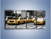 Obraz na płótnie – Amerykańskie taksówki w korku ulicznym – czteroczęściowy TM219W1