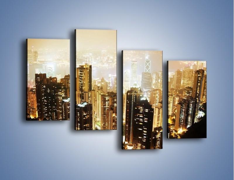 Obraz na płótnie – Miasto widziane z góry – czteroczęściowy AM007W2