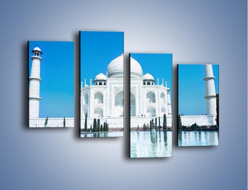 Obraz na płótnie – Taj Mahal pod błękitnym niebem – czteroczęściowy AM077W2