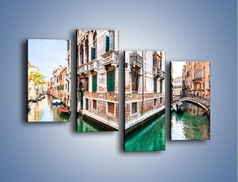Obraz na płótnie – Skrzyżowanie wodne w Wenecji – czteroczęściowy AM081W2