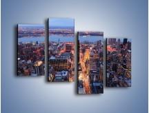 Obraz na płótnie – Budzące się ze snu miasto – czteroczęściowy AM097W2