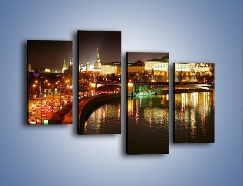 Obraz na płótnie – Moskwa nocą – czteroczęściowy AM118W2