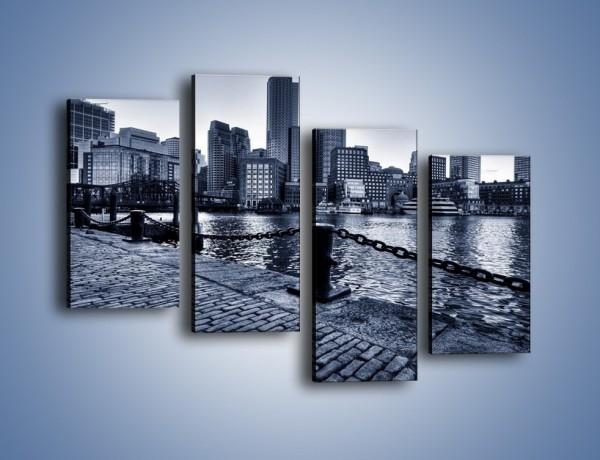 Obraz na płótnie – Wybrukowana wybrzeże miasta – czteroczęściowy AM132W2