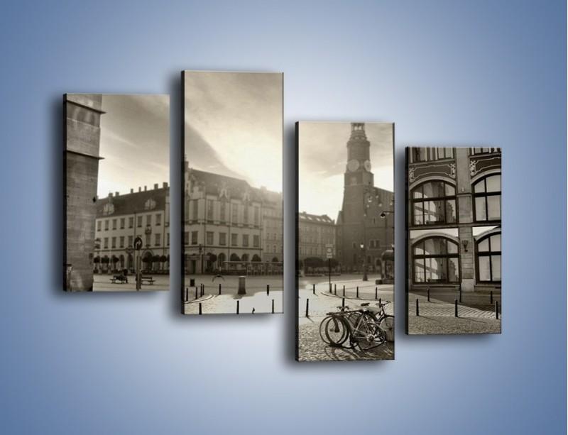Obraz na płótnie – Rynek Starego Miasta – czteroczęściowy AM136W2