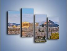Obraz na płótnie – Ateńskie ruiny – czteroczęściowy AM162W2