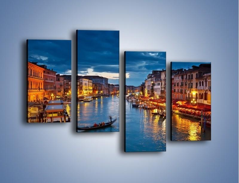 Obraz na płótnie – Wenecja romantyczną porą – czteroczęściowy AM163W2