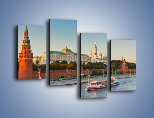 Obraz na płótnie – Kreml w środku lata – czteroczęściowy AM164W2