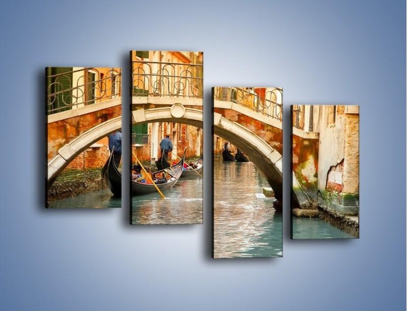 Obraz na płótnie – Weneckie gondole – czteroczęściowy AM172W2