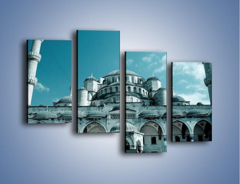 Obraz na płótnie – Taj Mahal – czteroczęściowy AM175W2