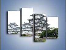 Obraz na płótnie – Azjatycka architektura – czteroczęściowy AM181W2