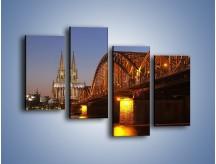 Obraz na płótnie – Most na tle kościoła – czteroczęściowy AM186W2