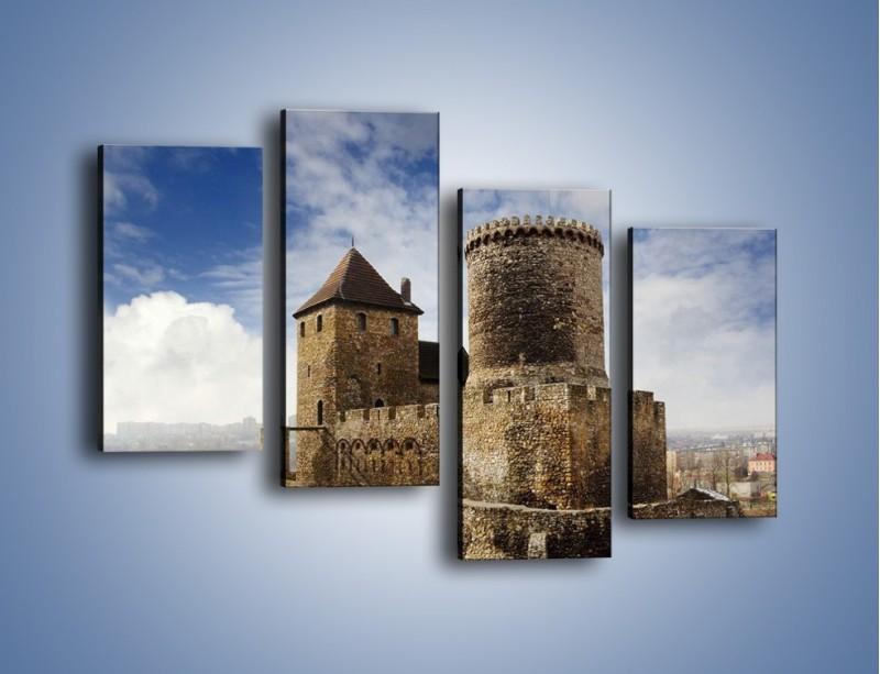 Obraz na płótnie – Średniowieczna fortyfikacja – czteroczęściowy AM201W2