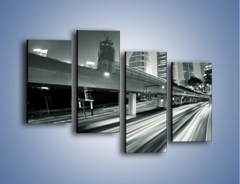 Obraz na płótnie – Miasto w odcieniach szarości – czteroczęściowy AM205W2