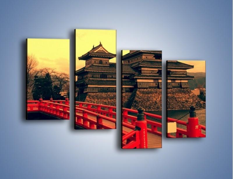 Obraz na płótnie – Japońska architektura – czteroczęściowy AM235W2