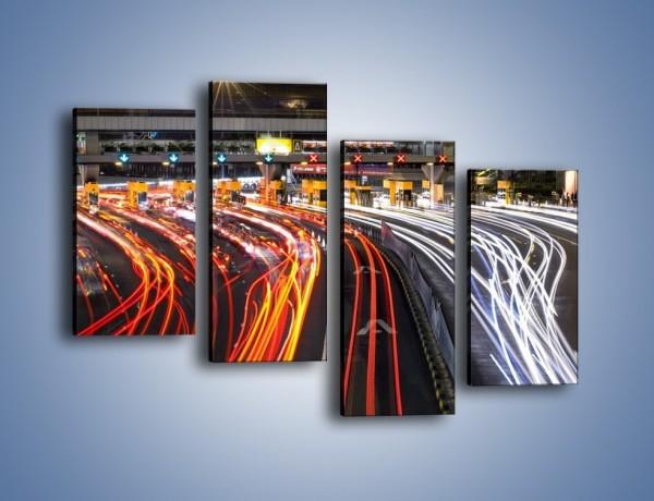 Obraz na płótnie – Autostradowa bramka w ruchu świateł – czteroczęściowy AM236W2