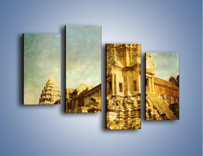 Obraz na płótnie – Starożytna architektura w stylu vintage – czteroczęściowy AM246W2