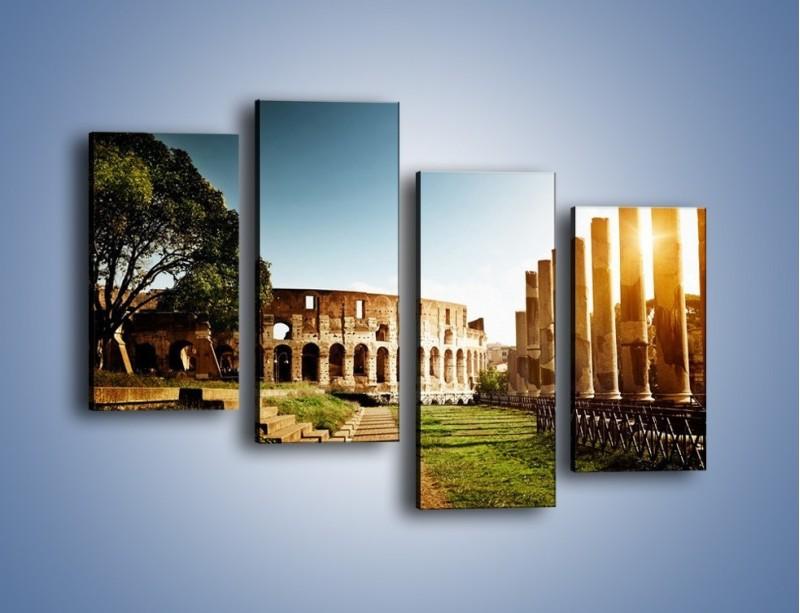 Obraz na płótnie – Koloseum w świetle słońca – czteroczęściowy AM269W2