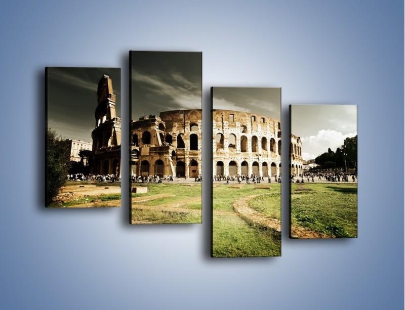 Obraz na płótnie – Koloseum przed burzą – czteroczęściowy AM271W2