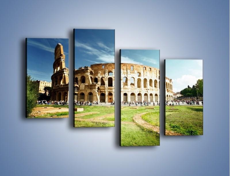 Obraz na płótnie – Koloseum w piękny dzień – czteroczęściowy AM273W2