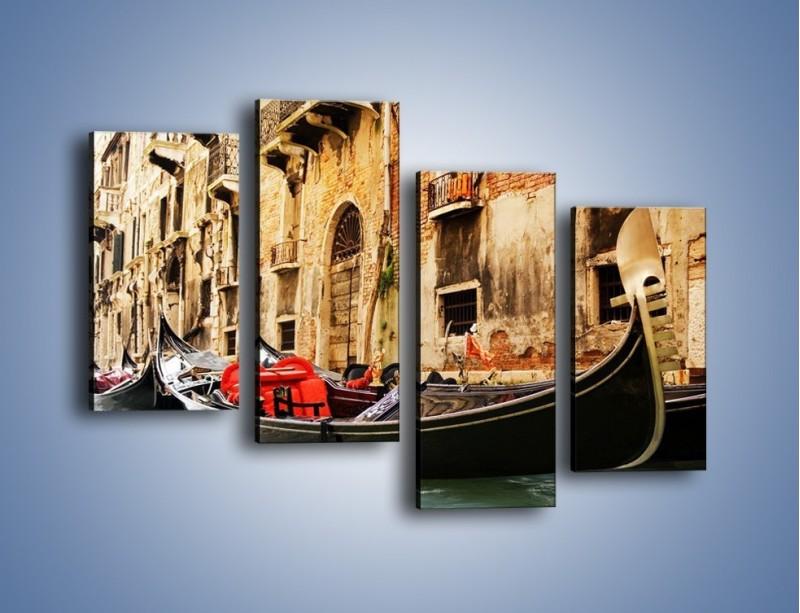 Obraz na płótnie – Wenecka gondola – czteroczęściowy AM286W2