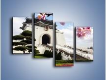 Obraz na płótnie – Azjatycka architektura – czteroczęściowy AM299W2