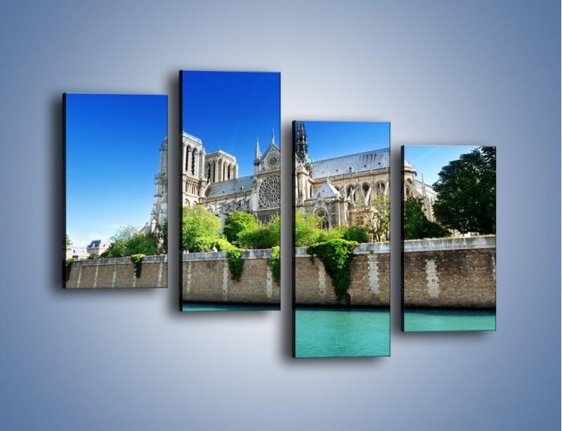 Obraz na płótnie – Katedra Notre-Dame – czteroczęściowy AM305W2