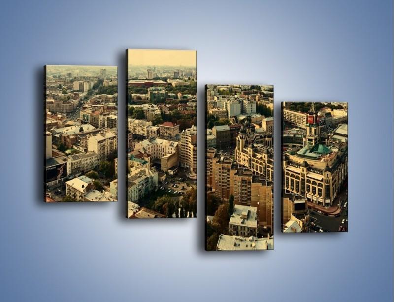 Obraz na płótnie – Panorama Kijowa – czteroczęściowy AM326W2