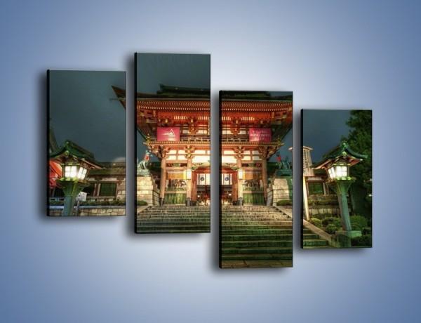 Obraz na płótnie – Świątynia w Kyoto – czteroczęściowy AM327W2