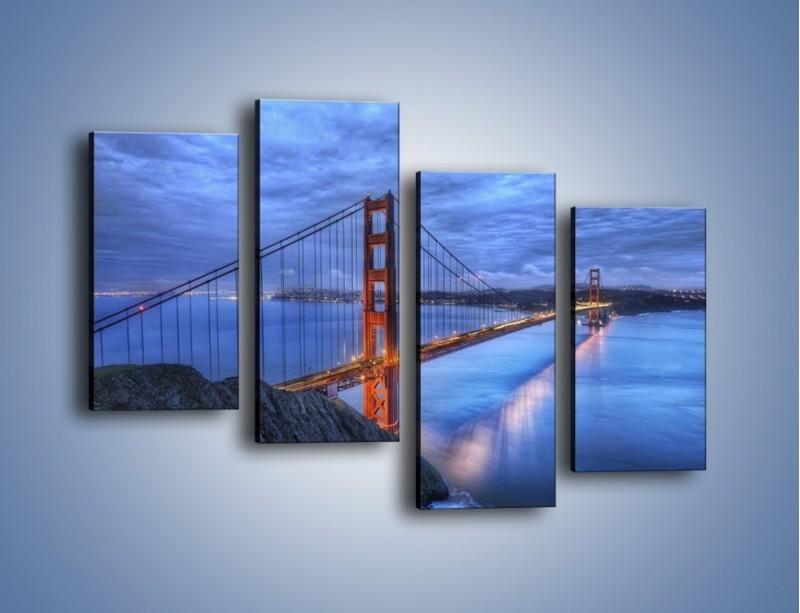Obraz na płótnie – Most Golden Gate – czteroczęściowy AM328W2
