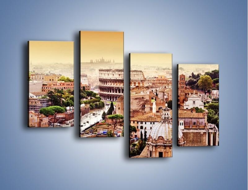 Obraz na płótnie – Panorama Rzymu – czteroczęściowy AM338W2