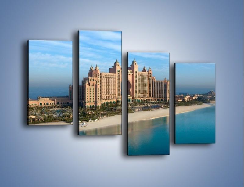 Obraz na płótnie – Atlantis Hotel w Dubaju – czteroczęściowy AM341W2