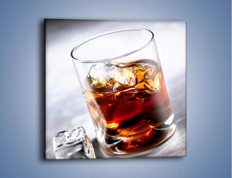 Obraz na płótnie – Whisky z lodem – jednoczęściowy kwadratowy JN225