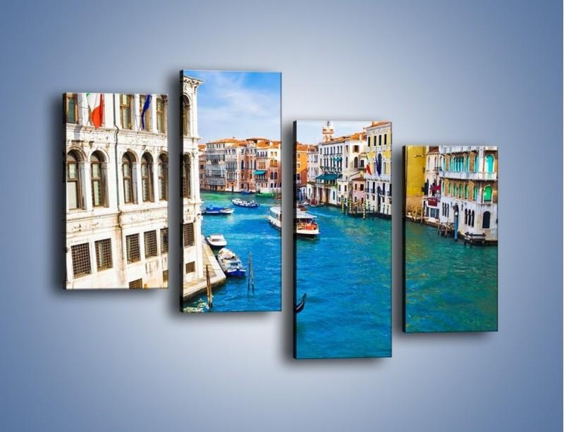 Obraz na płótnie – Kolorowy świat Wenecji – czteroczęściowy AM362W2