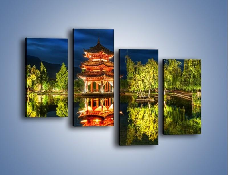 Obraz na płótnie – Urokliwy park w Chinach – czteroczęściowy AM365W2