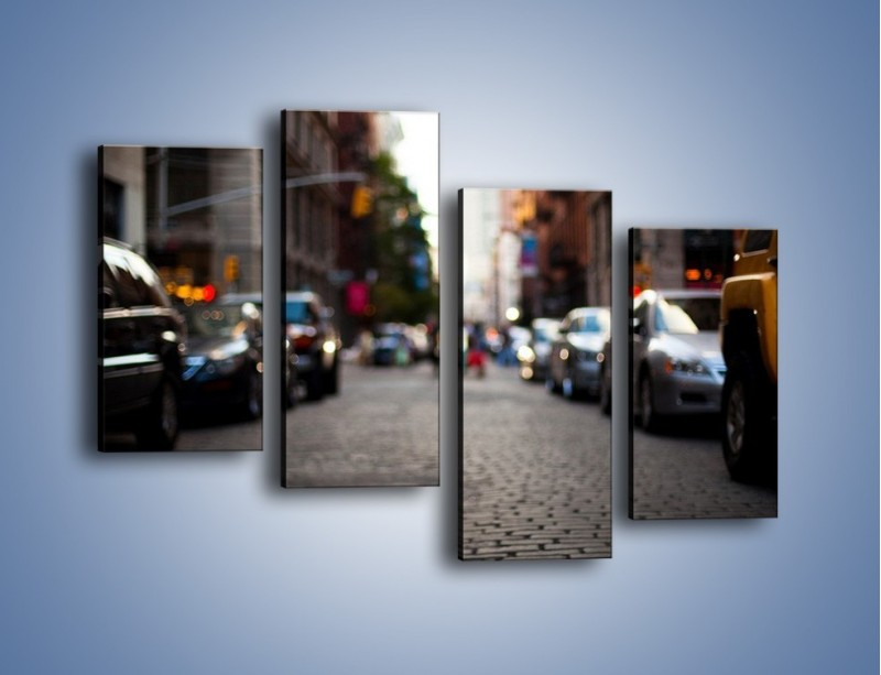 Obraz na płótnie – Rozmyty świat centrum miasta – czteroczęściowy AM367W2