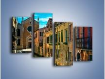Obraz na płótnie – Cały urok Wenecji w jednym kadrze – czteroczęściowy AM371W2