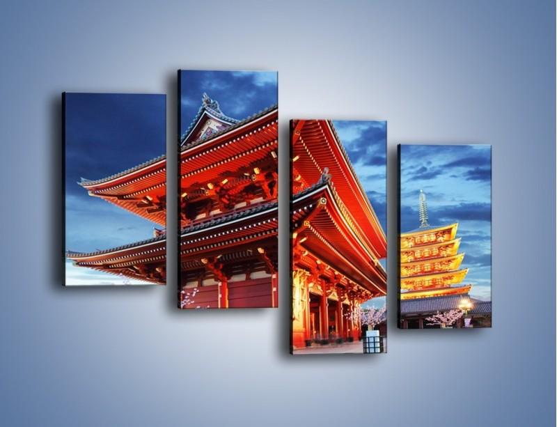 Obraz na płótnie – Świątynia Senso-ji w Tokyo – czteroczęściowy AM378W2