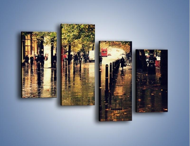 Obraz na płótnie – Deszczowa jesień w Moskwie – czteroczęściowy AM383W2